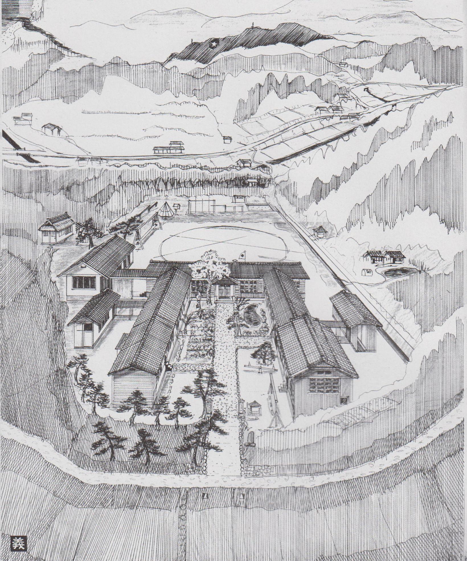 二宮小学校(森義範さんの画)
