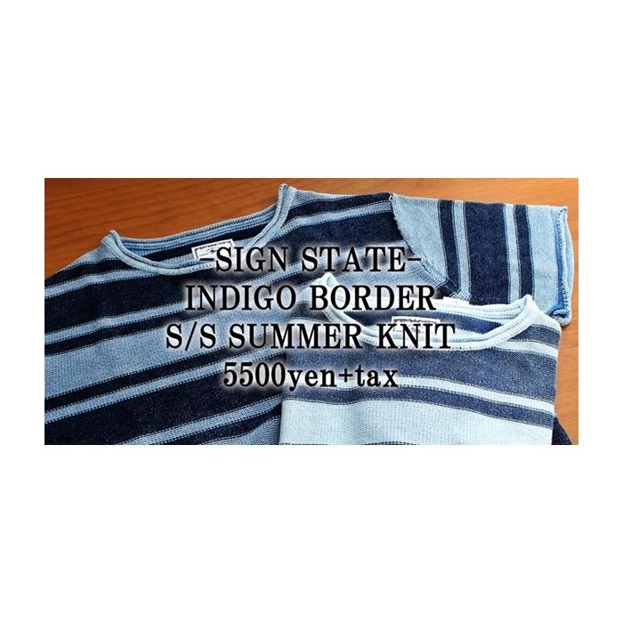 2017-06-18 インディゴボーダー半袖サマーニット サインステイト SIGN STATE 4