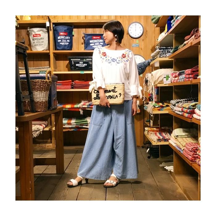 2017-07-12 花柄刺繍カットソー ONON (1)