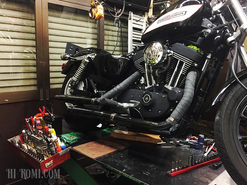 アメリカンバイク ハーレー カスタム 工場 ショップ 神戸市垂水区 工場見学 フライス 旋盤 バンドソー マシン 機械 オイル 工業