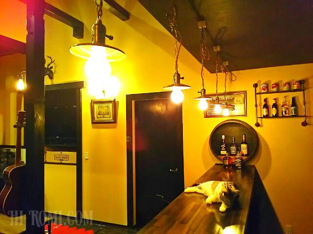 BAR バー 真鍮 照明 ライト アンティーク ヴィンテージ アメリカン 店舗設計 照明計画 納品事例 設置 施工 製作 特注 製造 Hi-Romi.com 神戸