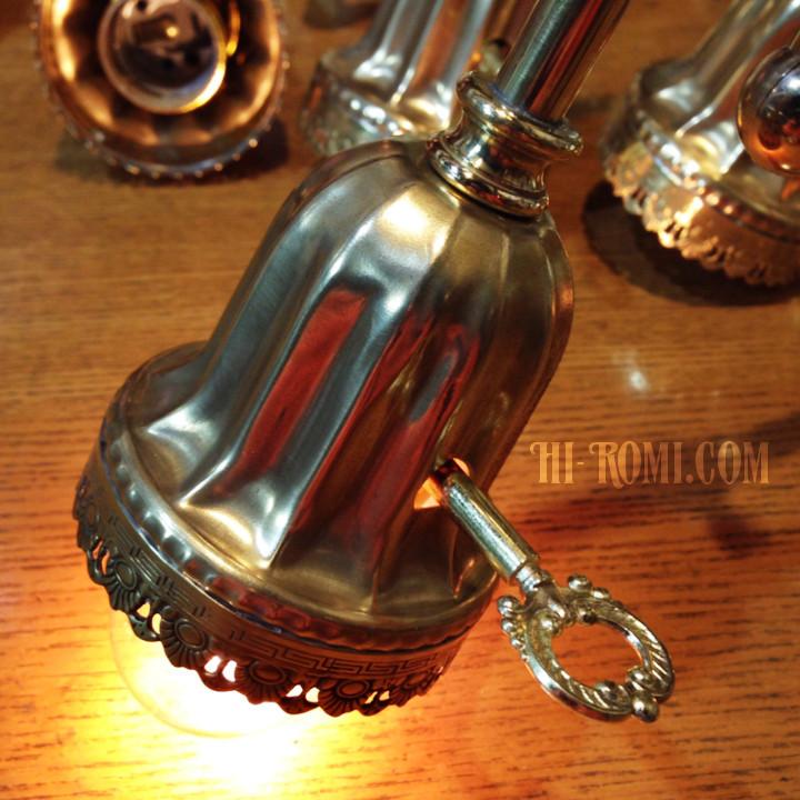 コロニアル 真鍮 レース ヴィクトリアン 鍵スイッチ 角度調整 ベル カップ ブラケット ライト ランプ 照明 壁面 壁掛け