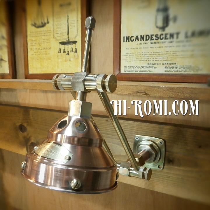Hi-Romi.com(ハイロミ)オリジナルのダブルアーム壁掛ライトを仮組上げ