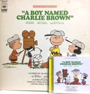 00 映画「スヌーピーとチャーリー 」 A Boy Named Charlie Brown サントラ LPとCD