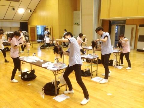 理美容甲子園2017放課後練習美WDチーム