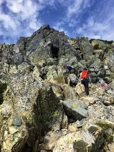 五竜岳岩場