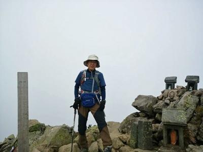 燧ヶ岳の山頂(マナイタグラ)で
