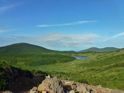 途中から見る「東吾妻山」