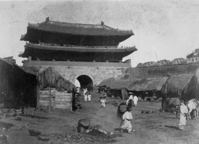 1895年の首都ソウルの南大門