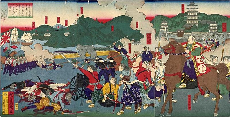 戊辰戦争箱館戦争の図