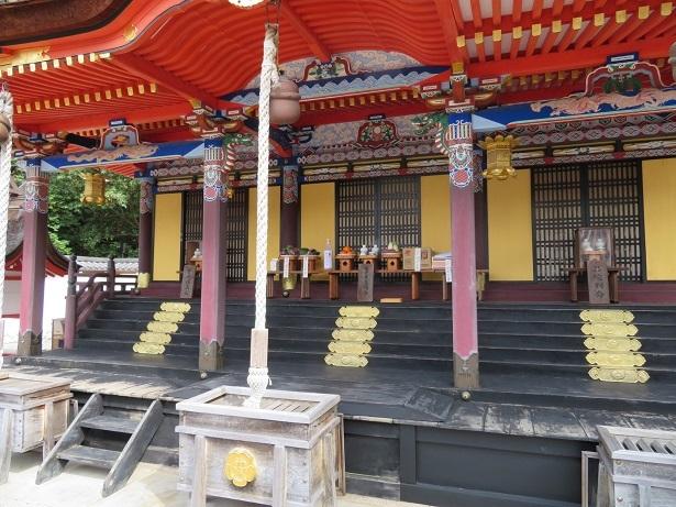 錦織神社 本殿 彩色