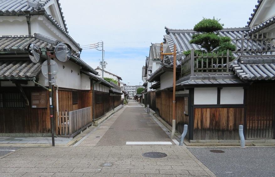富田林寺内町の街並み