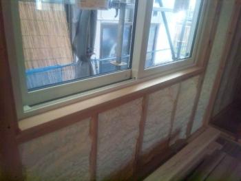 窓台の施工