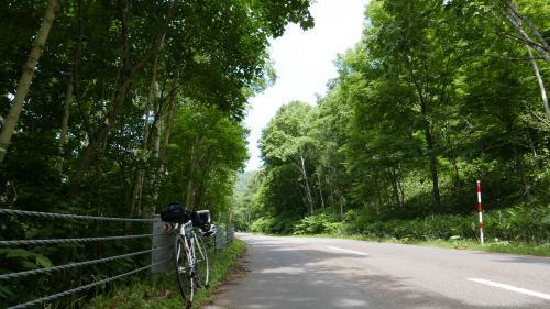 江丹別峠の自転車