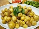 ジャガイモとベーコンとイタリアンパセリ