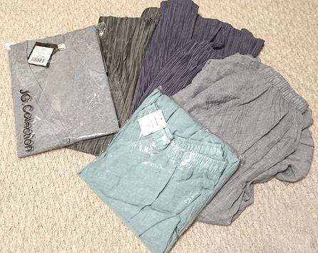 楽天セールにて。ヒラヒラロングスカートとプリーツワイドパンツを購入。