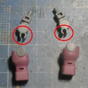 HGUCイフリートシュナイド腕部加工1
