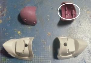 HGUCイフリートシュナイド腕部加工3