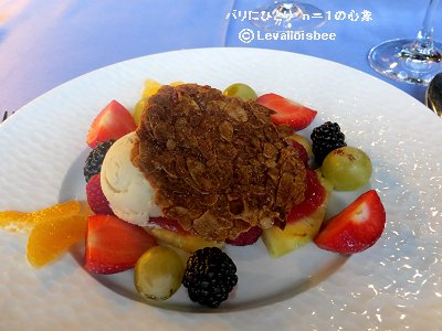 アーモンドと果物がよく合うアイスクリームdownsize