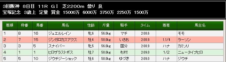 89S宝塚記念結果