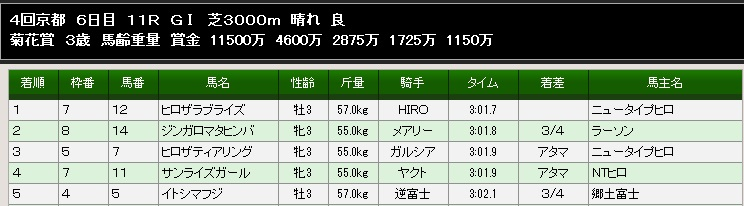 89S菊花賞結果