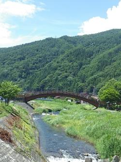 木曽川と太鼓橋