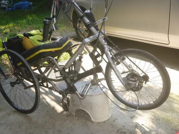 ワイヤー交換 ハンドバイクアダプター