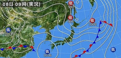 8日予報天気図