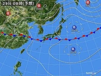 29日飯豊山天気予報