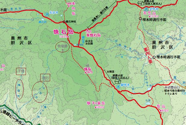 焼石岳マップ