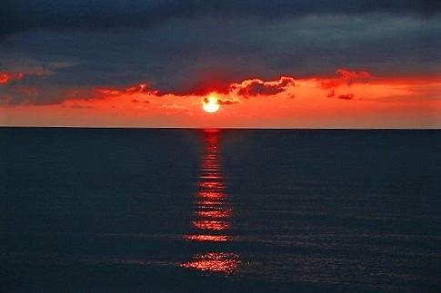 宗谷の夕日