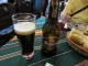 夕食の黒ビール