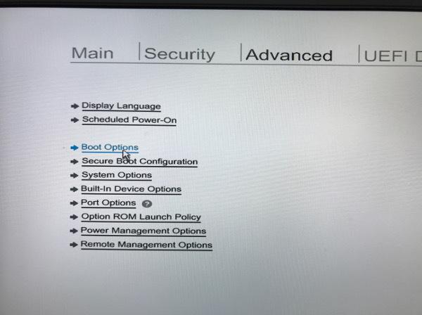 UEFIメイン画面