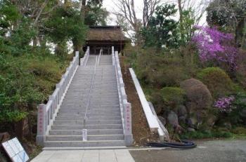 達磨寺の観音堂までの階段