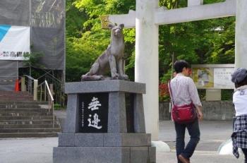 三ツ鳥居前のカッコイイムキムキ狛犬様2