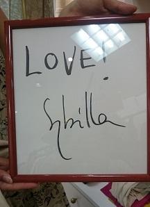シビラさんのサイン