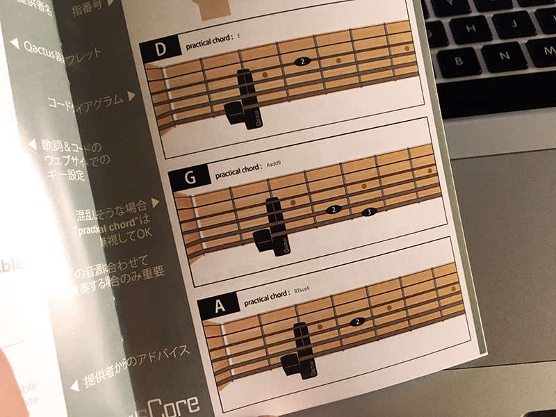 Qactus カクタス ギター 練習 方法 使い方