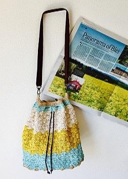 松編みショルダーバッグ1