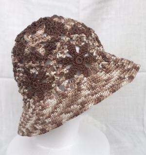 モチーフつなぎの帽子2