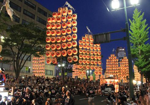秋田竿灯祭り2017-11