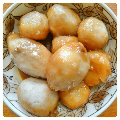 里芋の甘辛煮完成