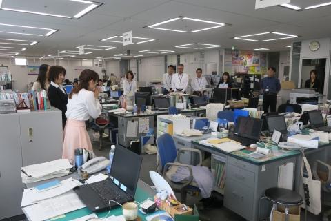 「櫻川めぐさんが県庁に来てくれました!」①