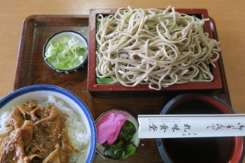 「丸味食堂のミニ焼肉丼&もり蕎麦」 (1)