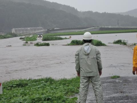 「恋瀬川氾濫対策工事が進められています!」①