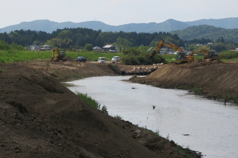 「恋瀬川氾濫対策工事が進められています!」⑦