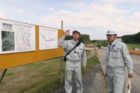 「恋瀬川氾濫対策工事が進められています!」⑩