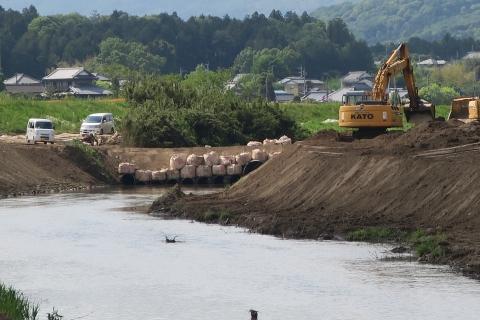 「恋瀬川氾濫対策工事が進められています!」⑤