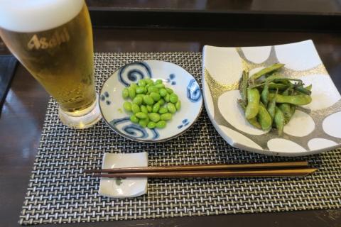 「焼き枝豆&生ビール」①