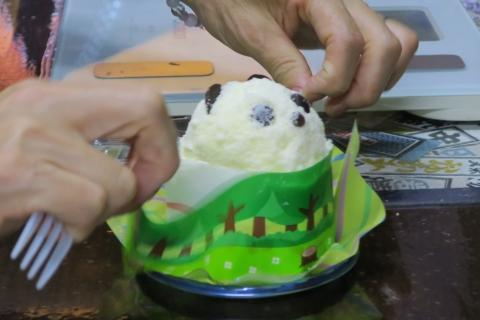 「上野パンダさんのケーキ」③