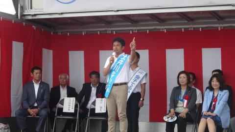 「金子てるひさ出陣式&大井川かずひこ演説会」③